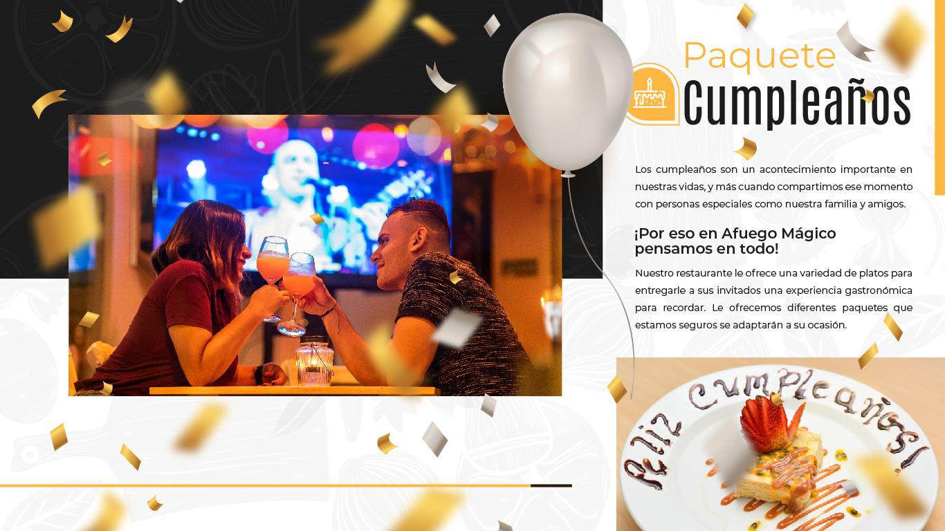 Restaurante Bar Afuego Paquete Cumple