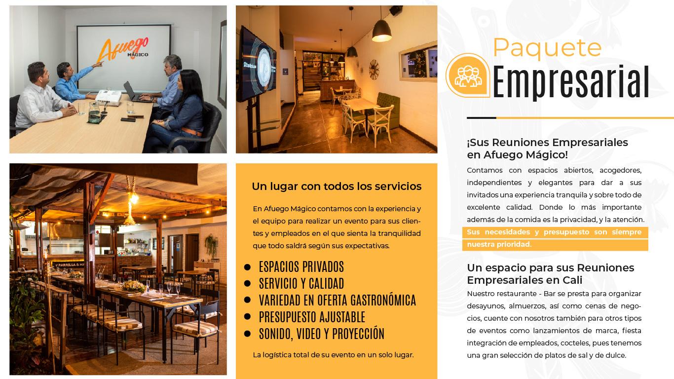Restaurante Bar Afuego Paquete Empresarial