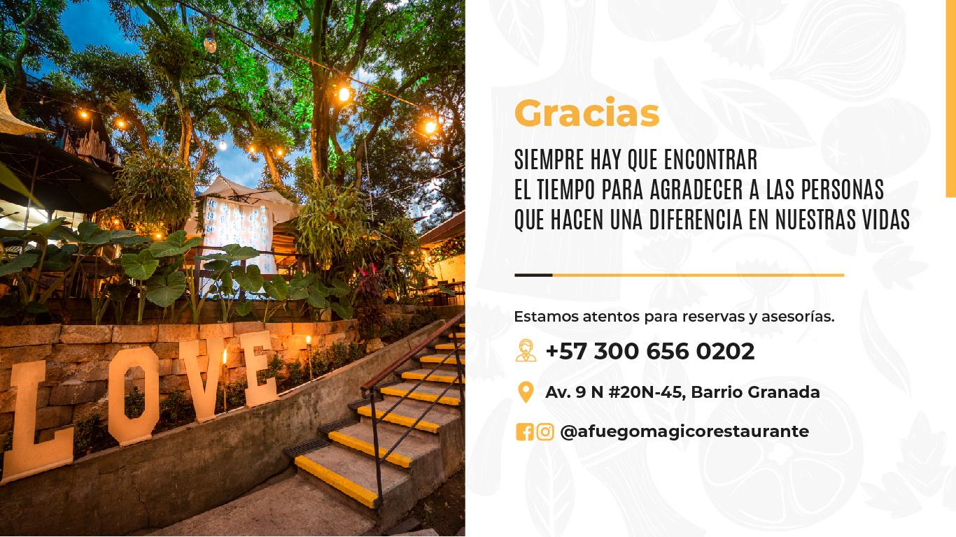 Restaurante Bar Afuego GRACIAS